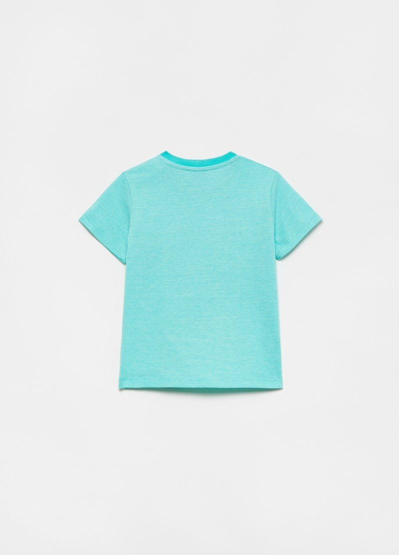 T-shirt in cotone con patch barche image number null