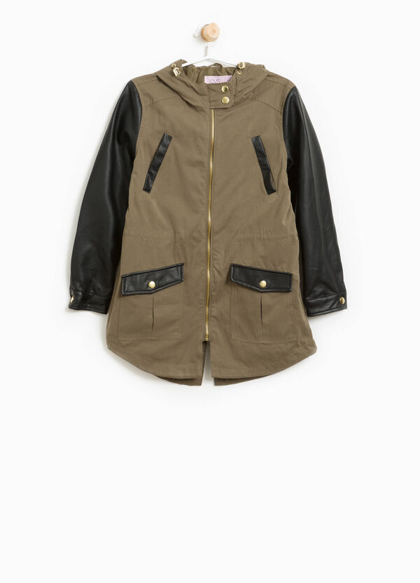Cotton parka with large hood. | OVS