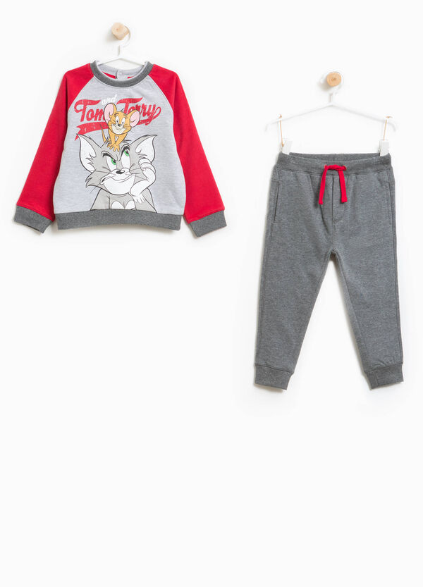 Cotton and viscose Tom and Jerry tracksuit | OVS