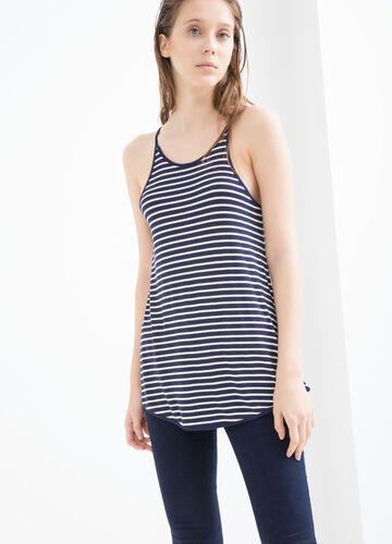 Top viscosa stretch a righe