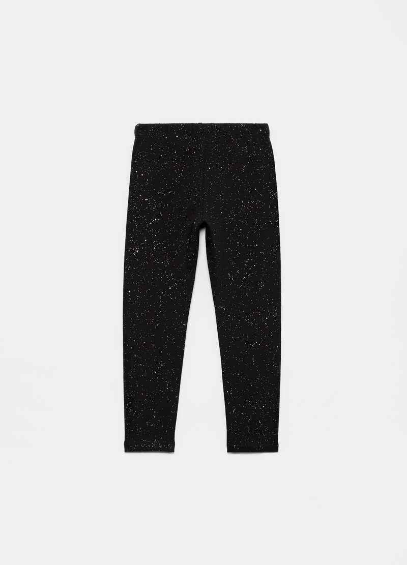 Leggings in cotone stretch stampa all-over image number null