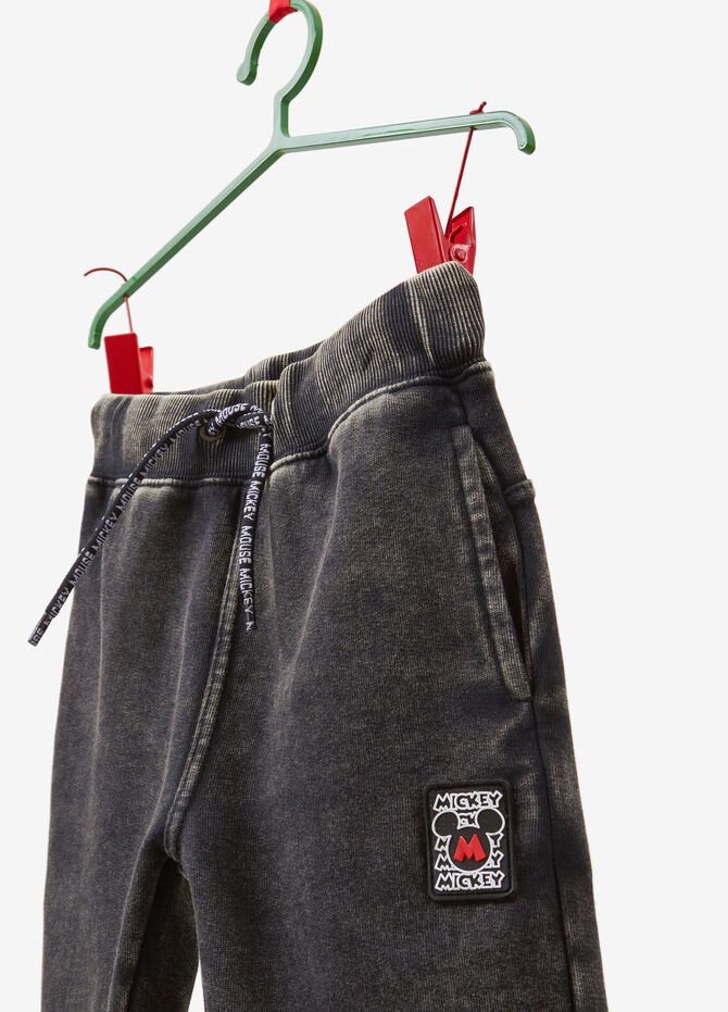 Joggers with Mickey Mouse patch
