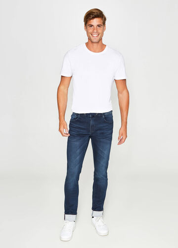 Jeans slim fit stretch con coulisse used