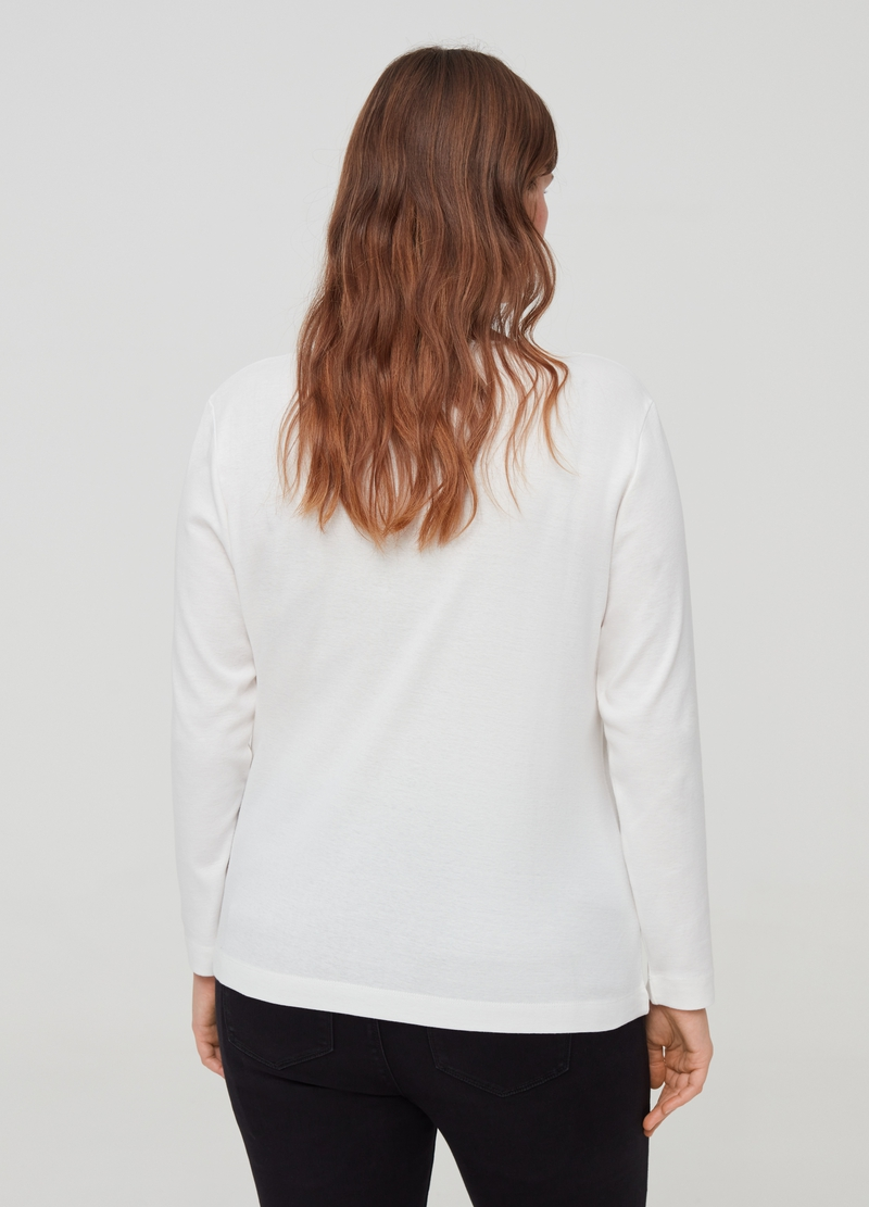 Curvy T-shirt with granddad neckline image number null
