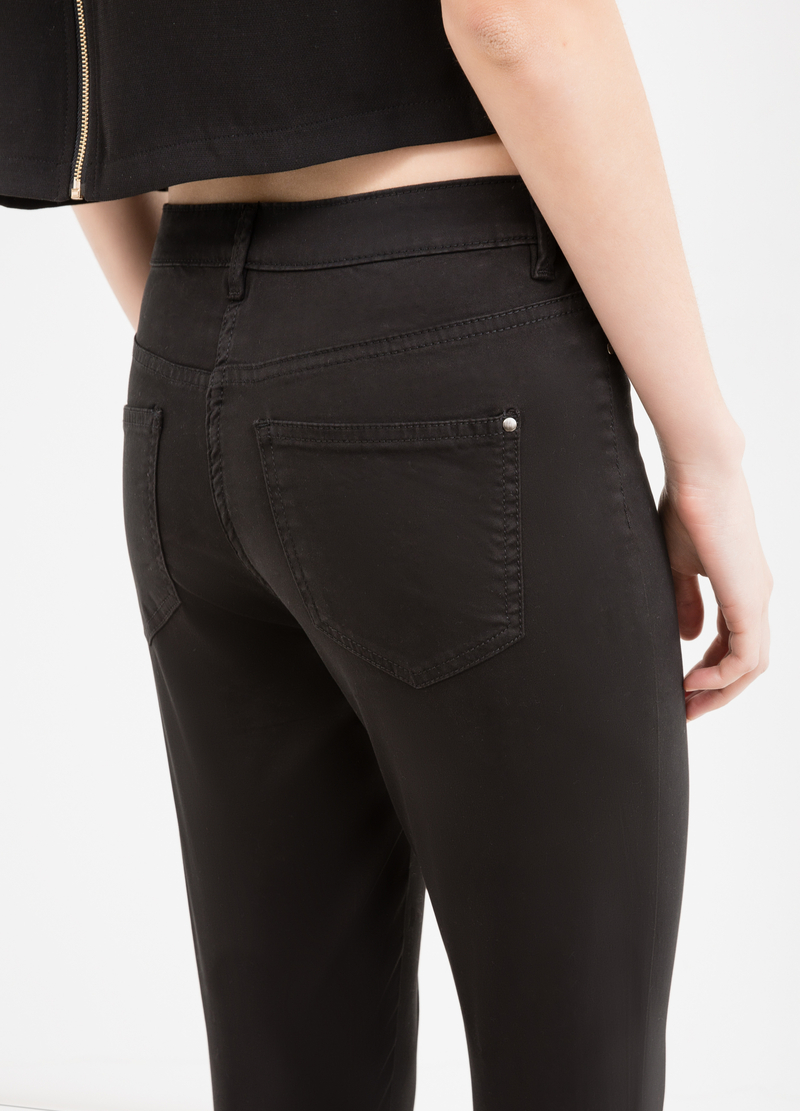 Stretch trousers with double faux pocket image number null
