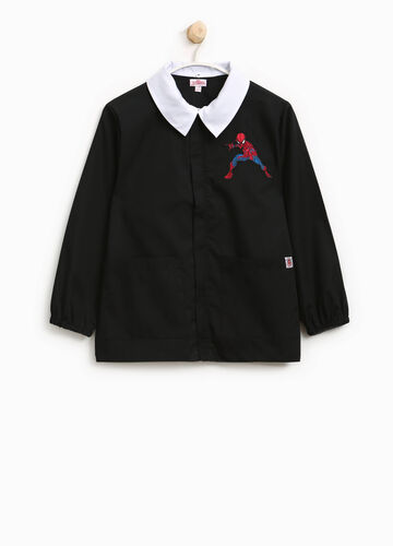 Cotton blend smock with Spiderman patch