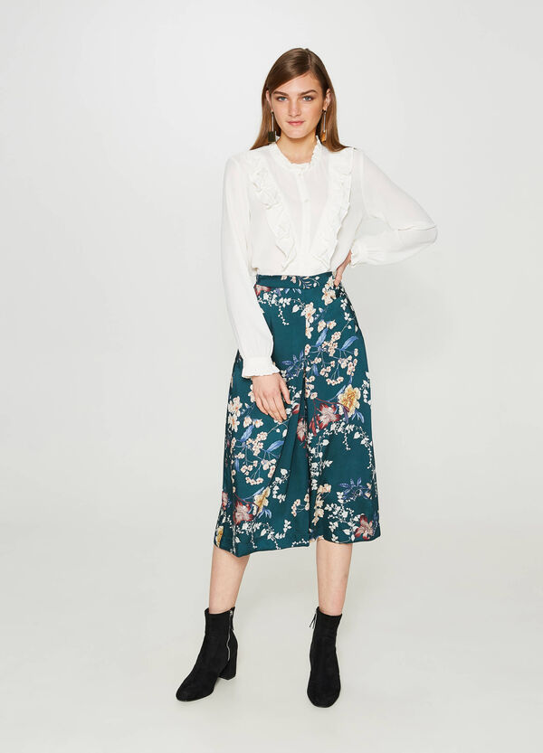 Floral patterned culottes