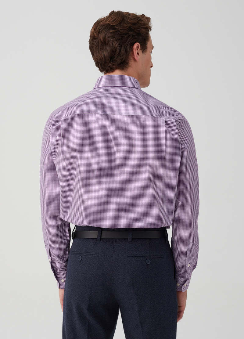 Regular-fit shirt with pocket and check pattern image number null