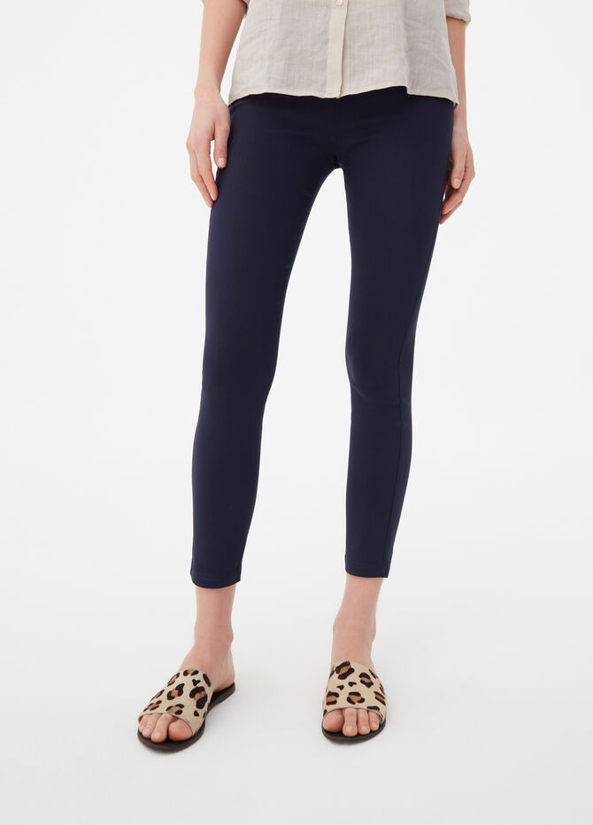 Solid colour bengaline stretch treggings