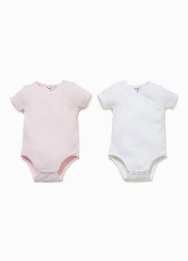 Two-pack solid colour bodysuits in 100% cotton | OVS