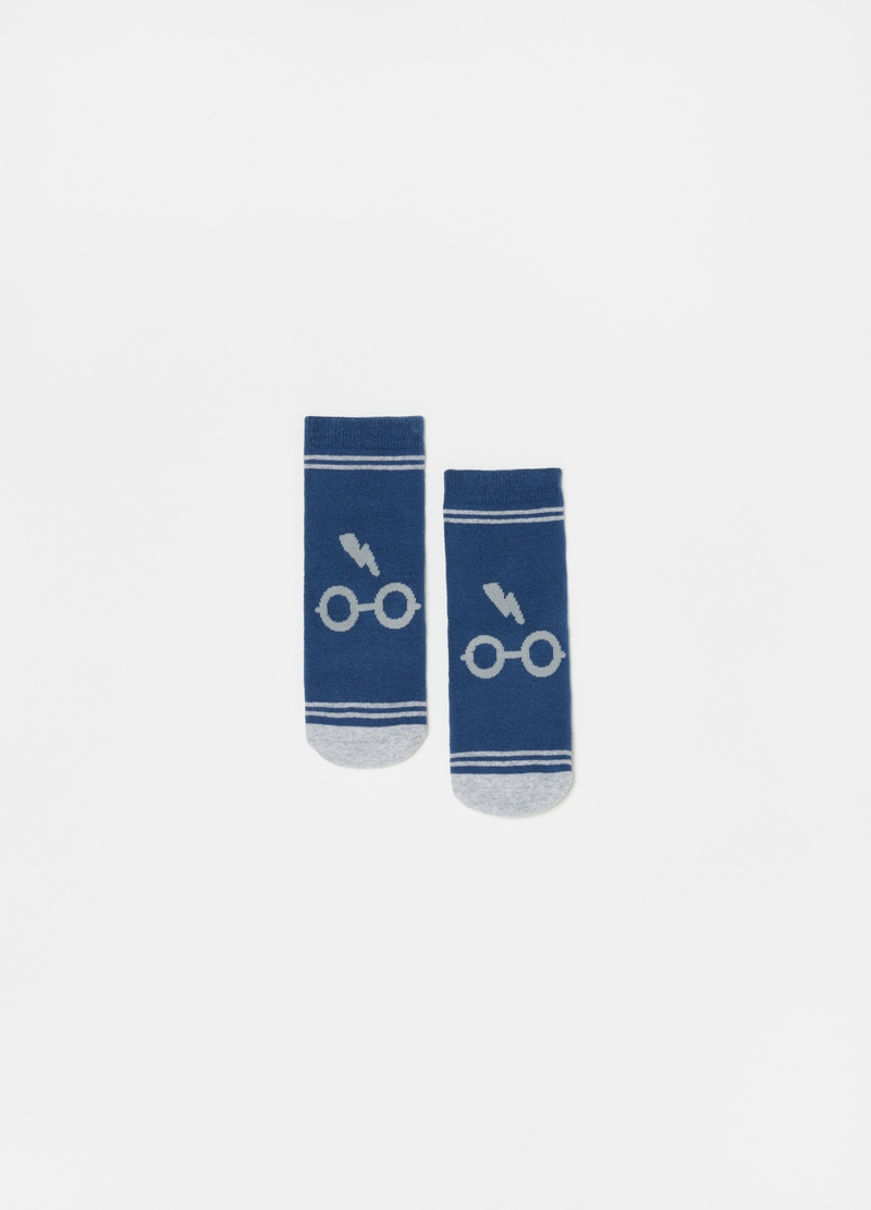Slipper socks with Harry Potter glasses image number null