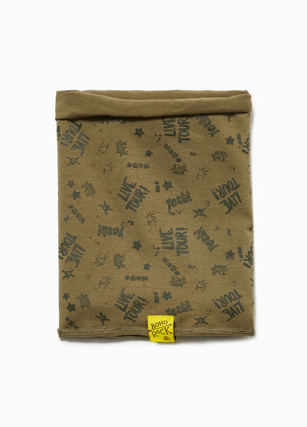 Jersey pashmina with lettering pattern