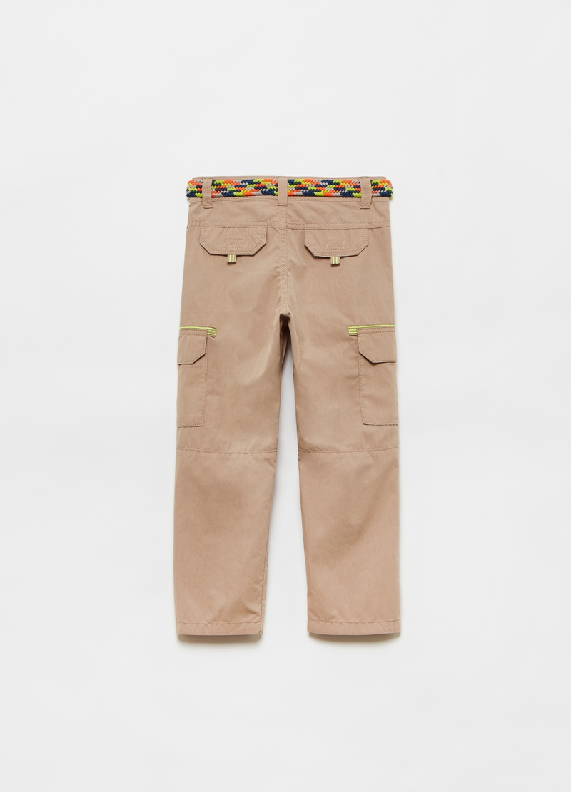 Cargo trousers with belt image number null