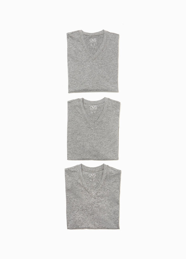 Set tre t-shirt intime in misto cotone