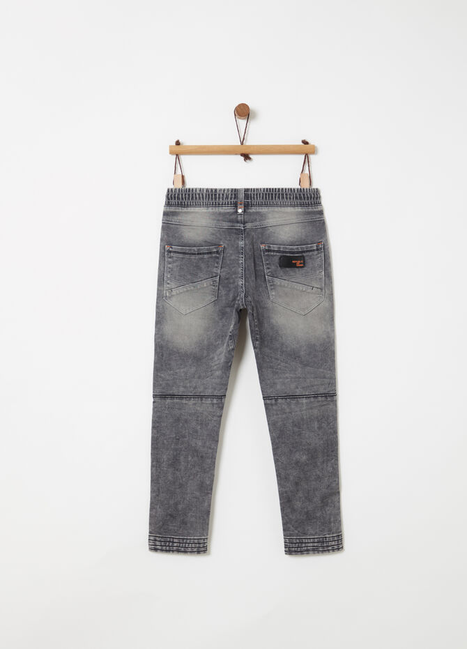 Cuff-hem loose-fit joggers with washed effect