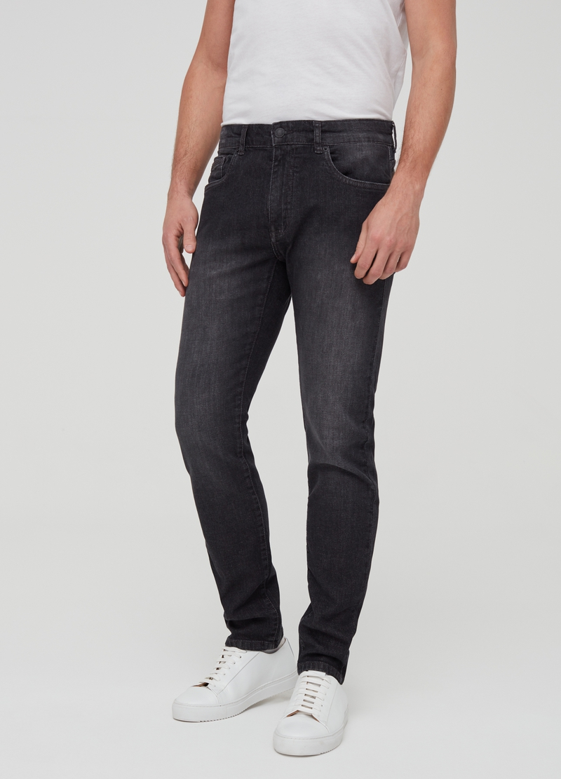 Faded-effect skinny-fit jeans image number null
