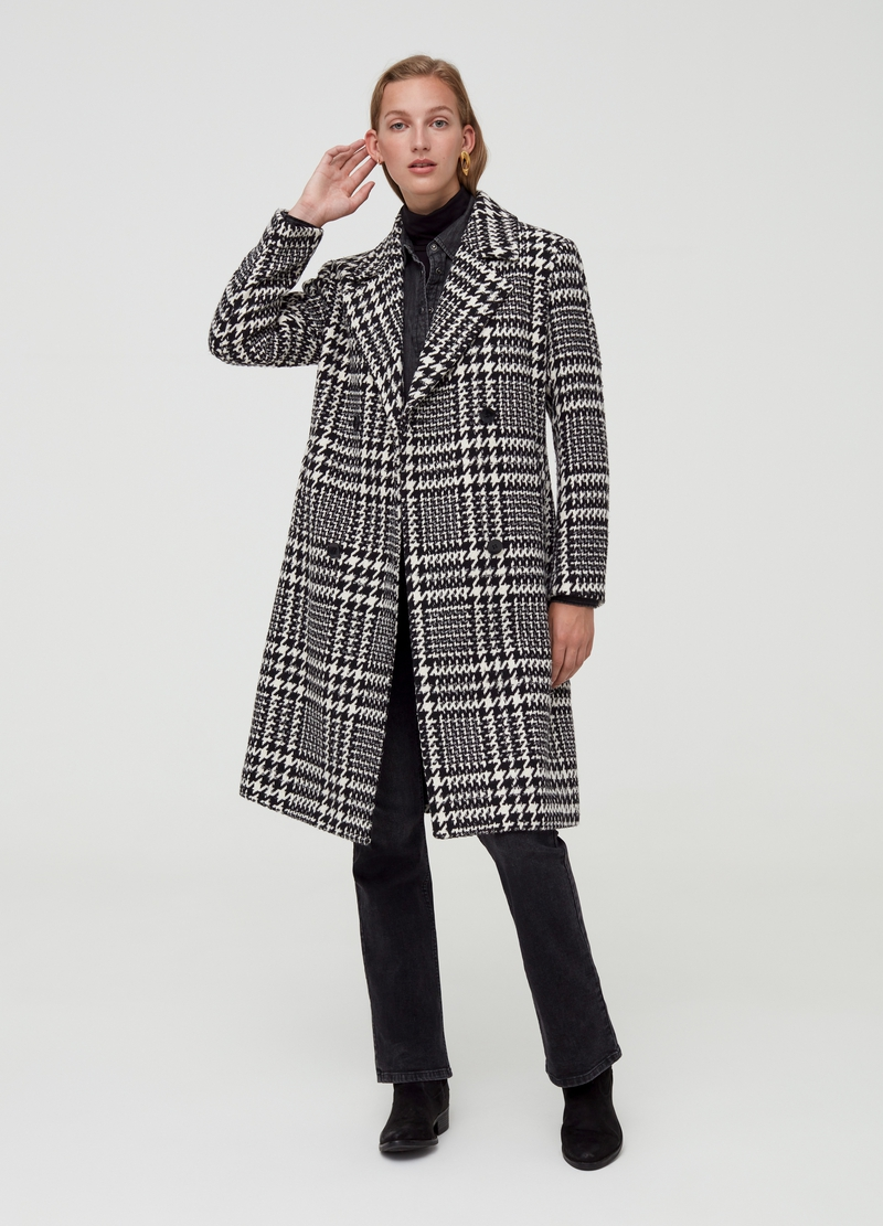 Double-breasted Prince-of-Wales coat image number null