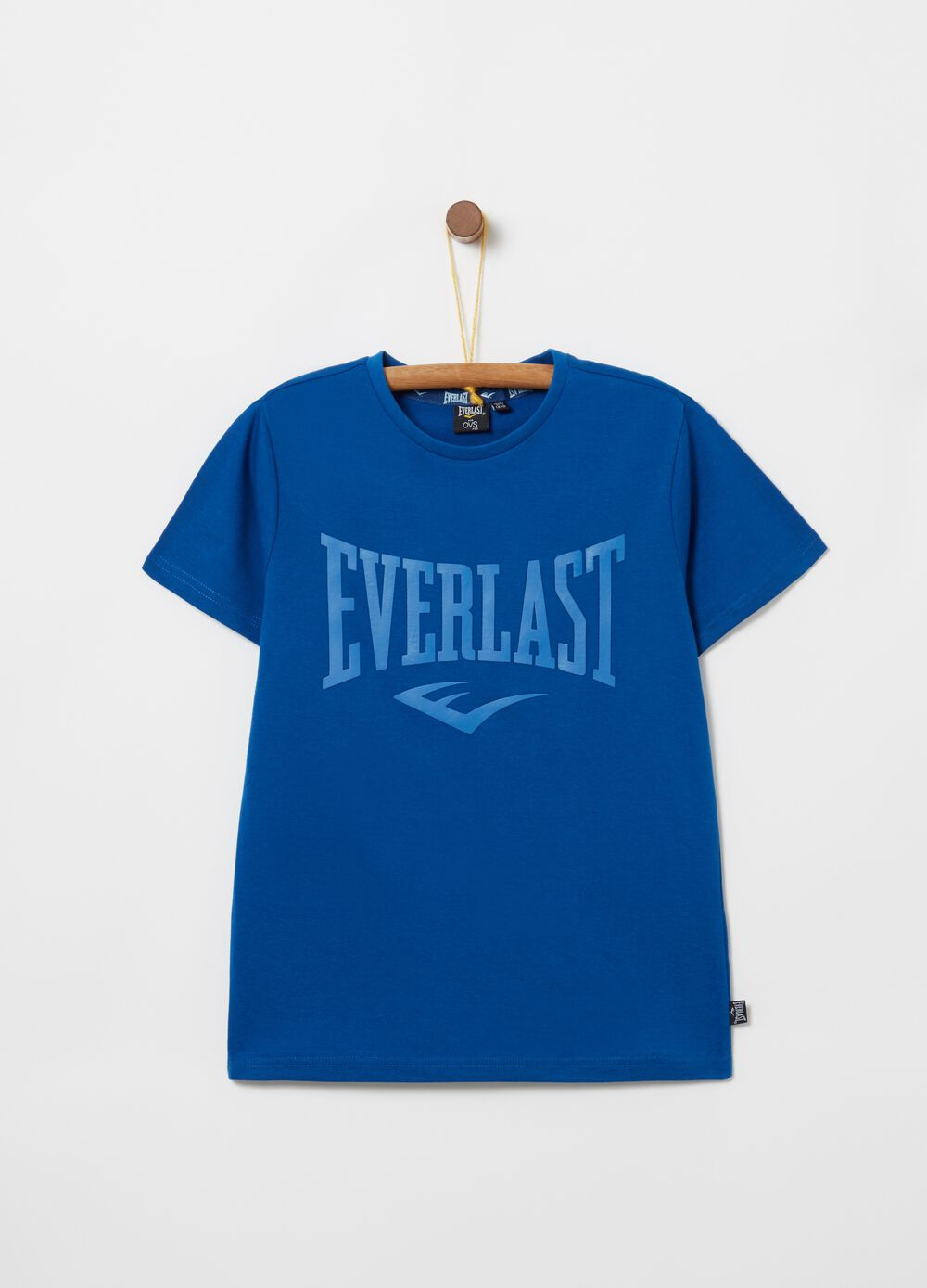 Solid colour gym T-shirt with Everlast print