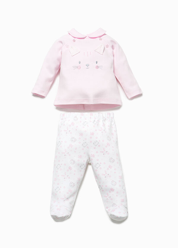 Patterned T-shirt and baby leggings set | OVS