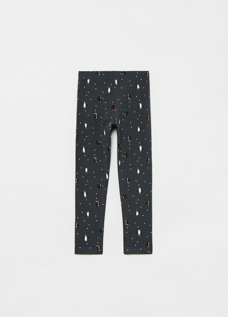 Leggings stampa pinguini all-over image number null