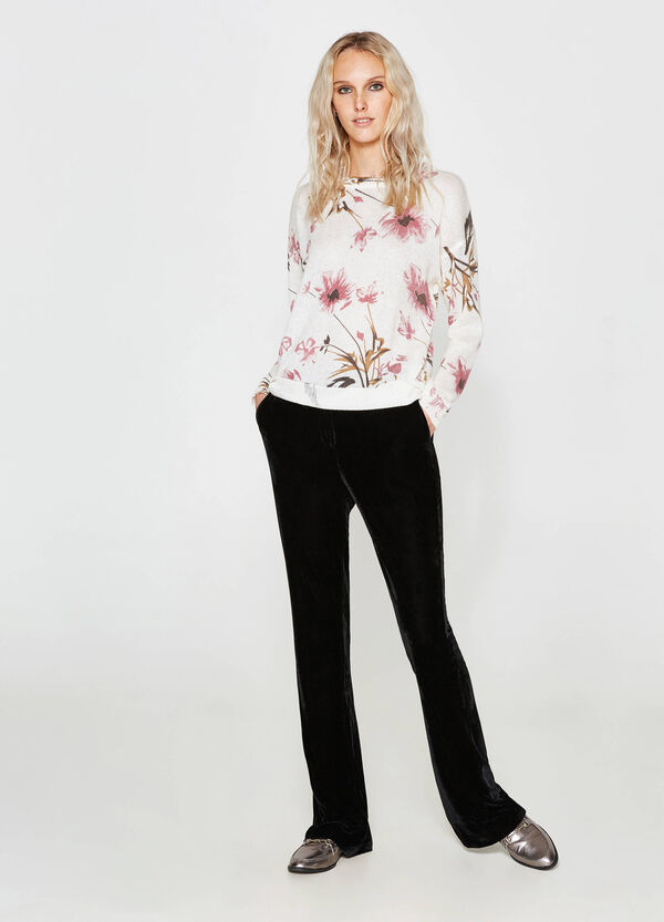 Pullover misto mohair floreale | OVS