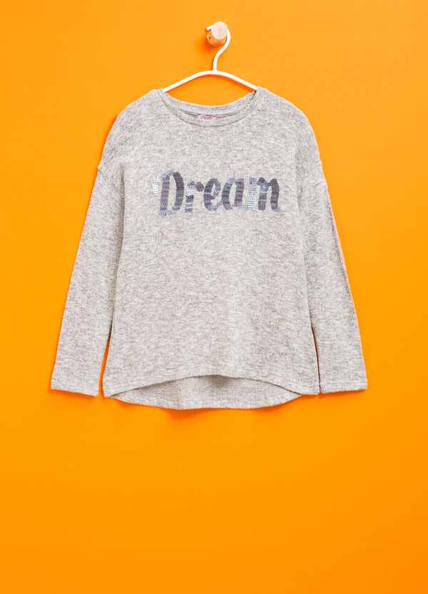 Stretch pullover with sequins | OVS