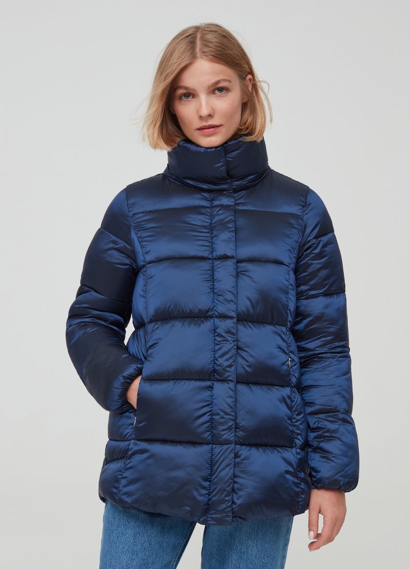 Padded jacket with high neck with pockets image number null