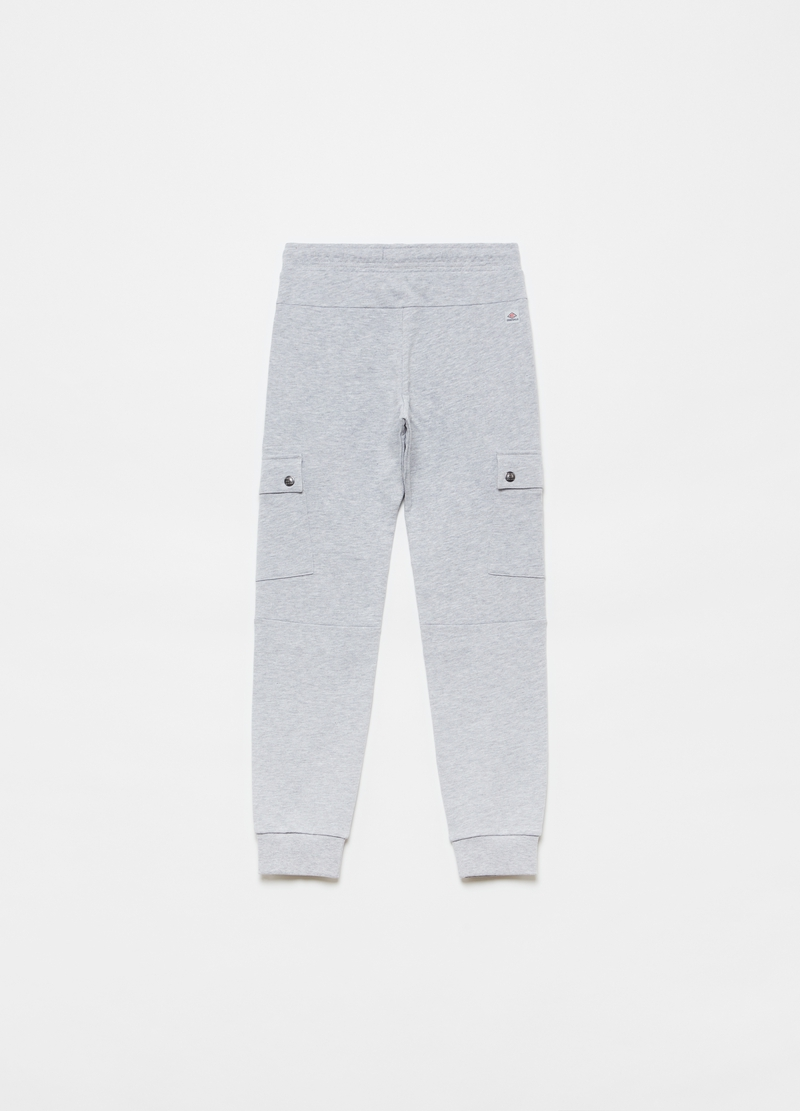 Mélange cargo joggers with pockets image number null