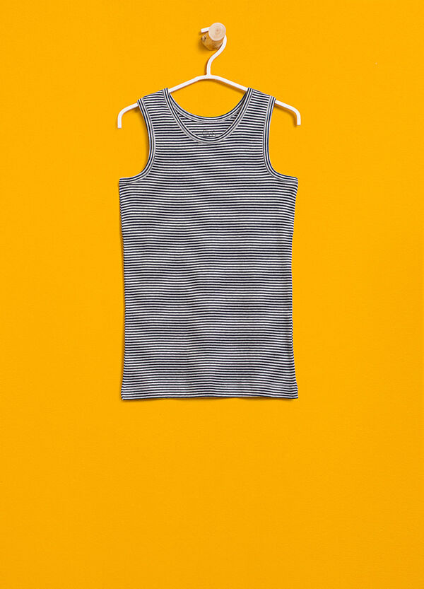 Striped organic cotton under vest | OVS