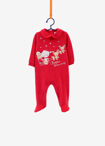 Christmas animals BCI sleepsuit in cotton blend