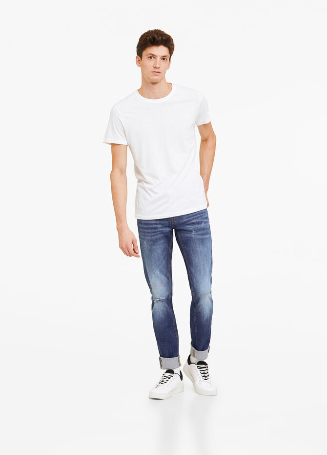 Skinny-fit washed-out stretch jeans