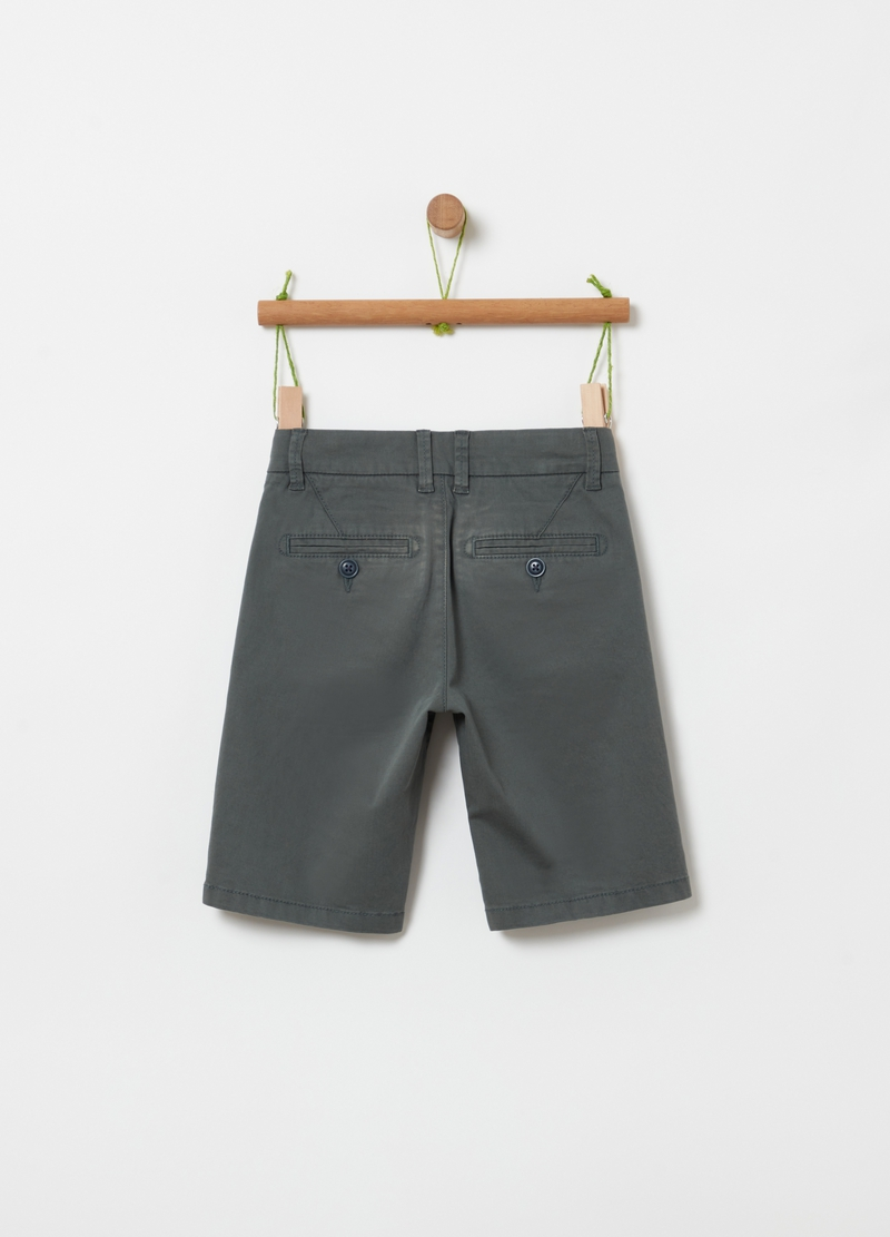 Chino Bermuda shorts in stretch organic cotton image number null