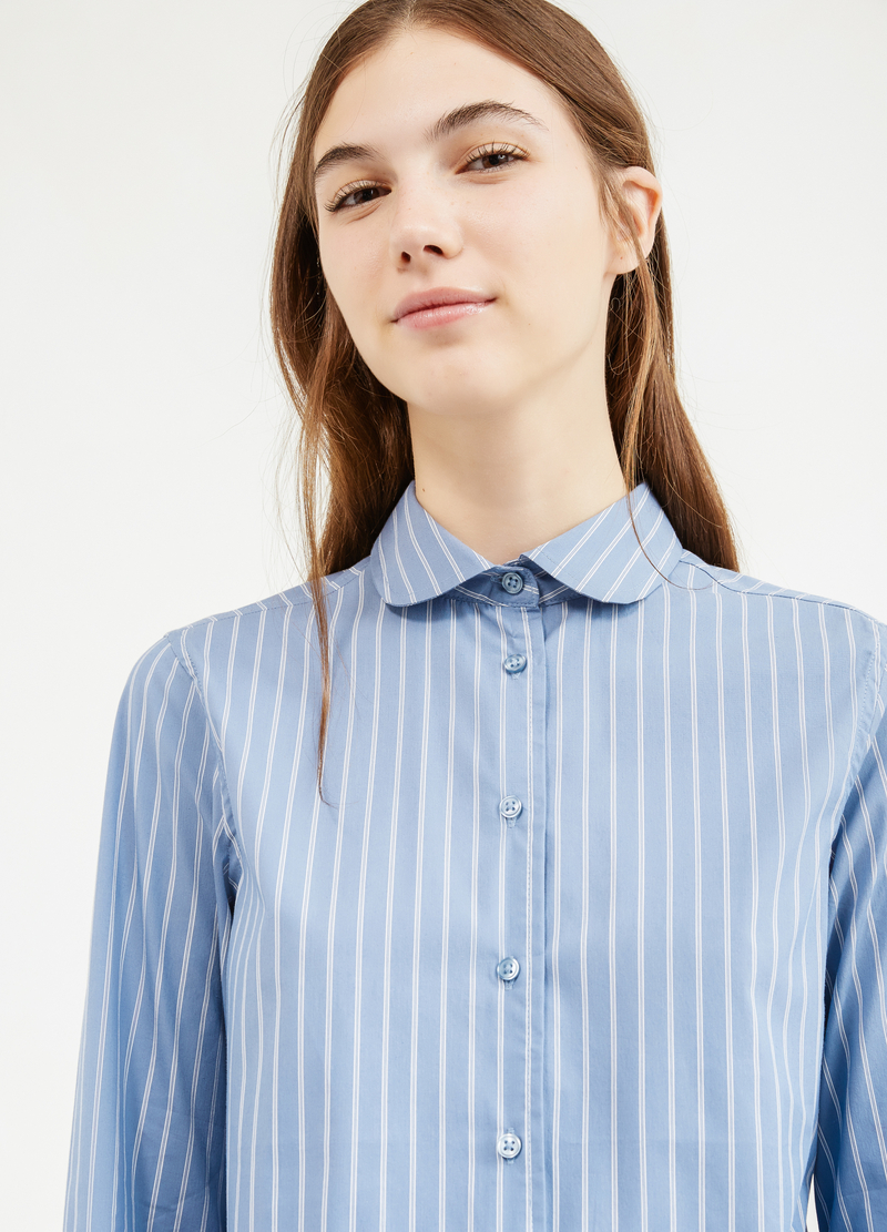 Camicia cotone stretch a righe image number null