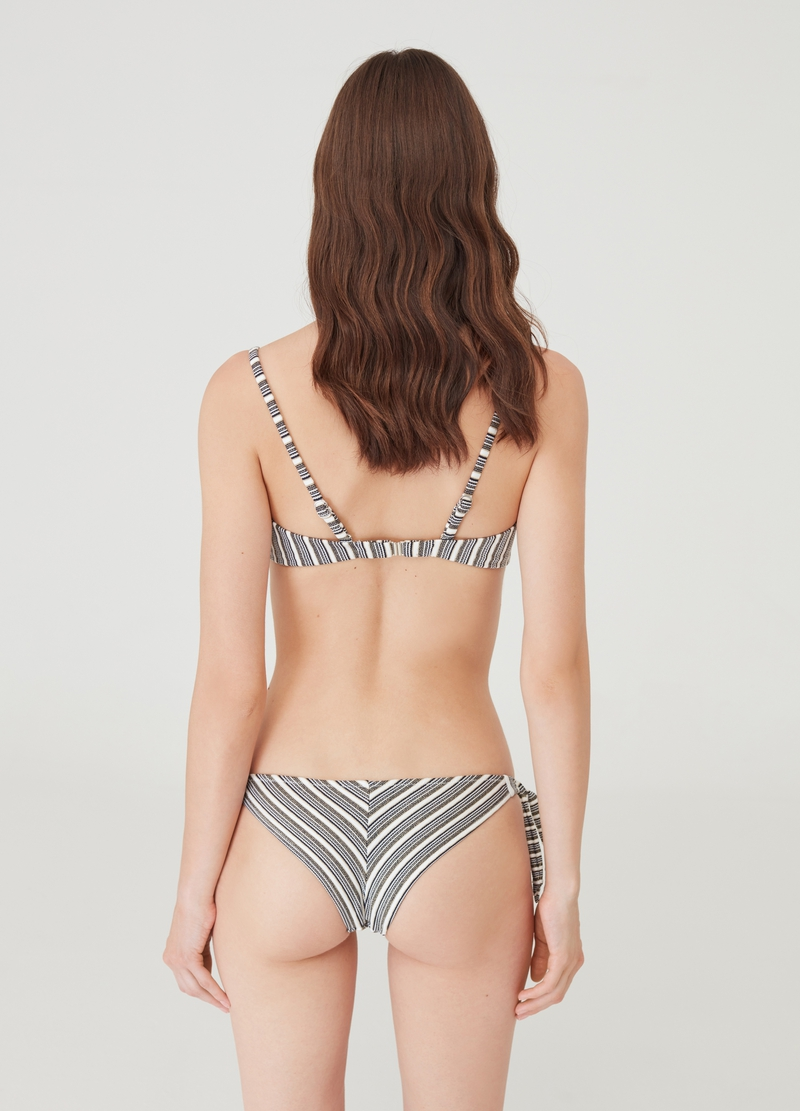Bikini briefs with lurex and all-over print image number null