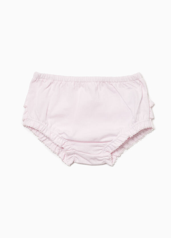 100% cotton briefs with flounce