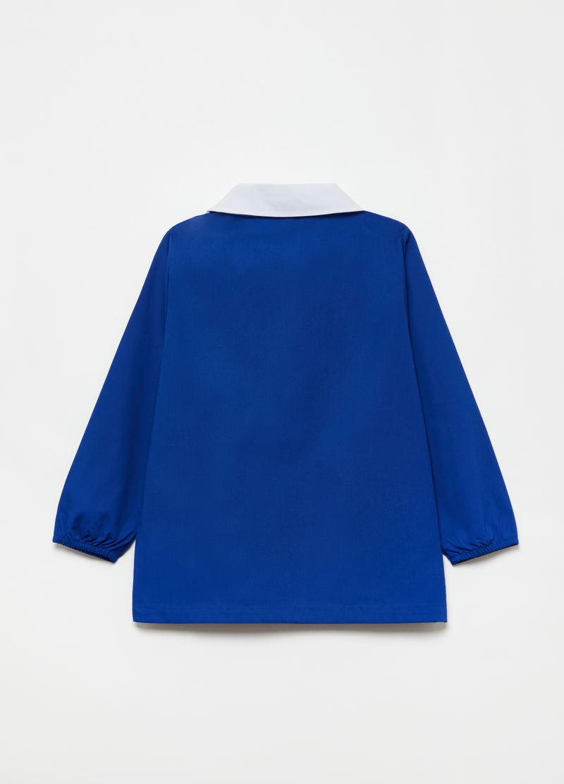 Solid colour smock with pockets and zip image number null