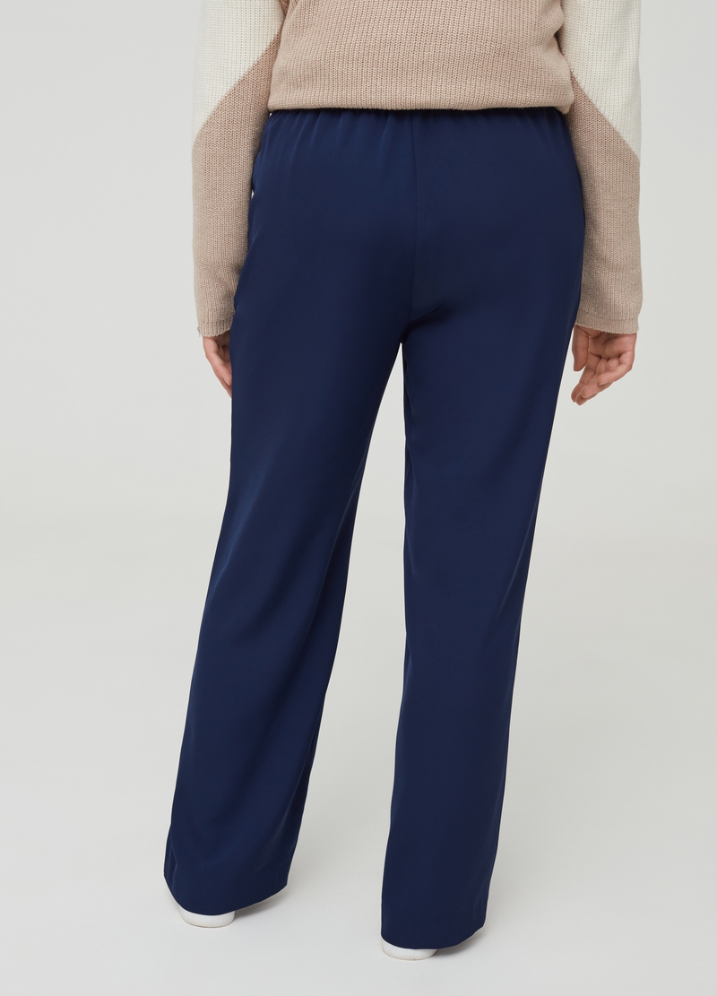 Curvy stretch trousers with pockets image number null