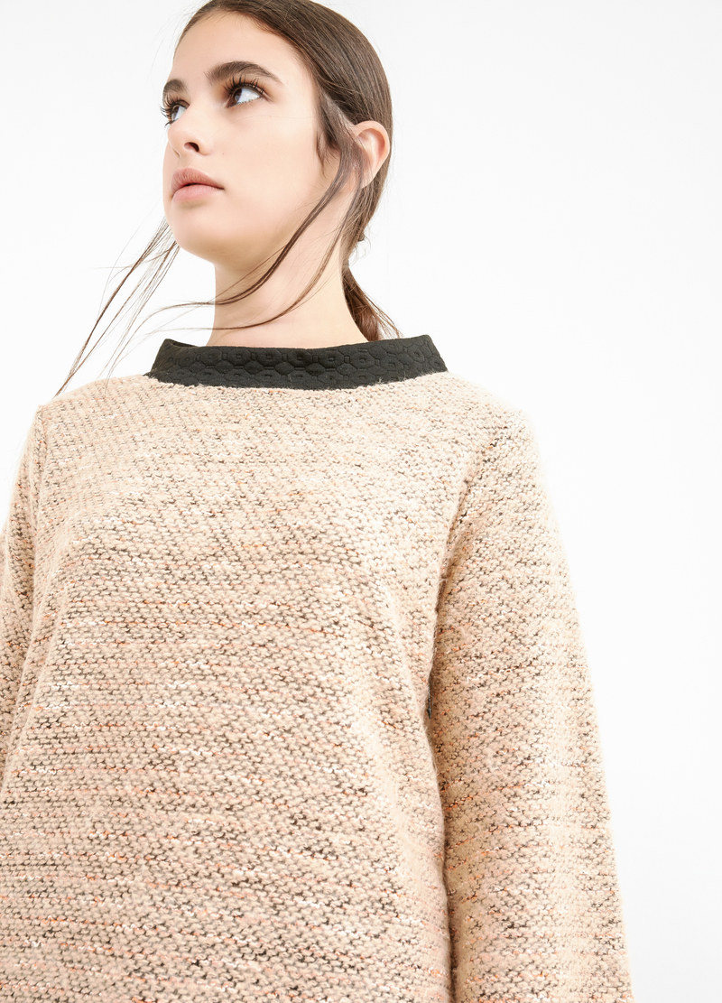 Cotton lurex blend pullover image number null