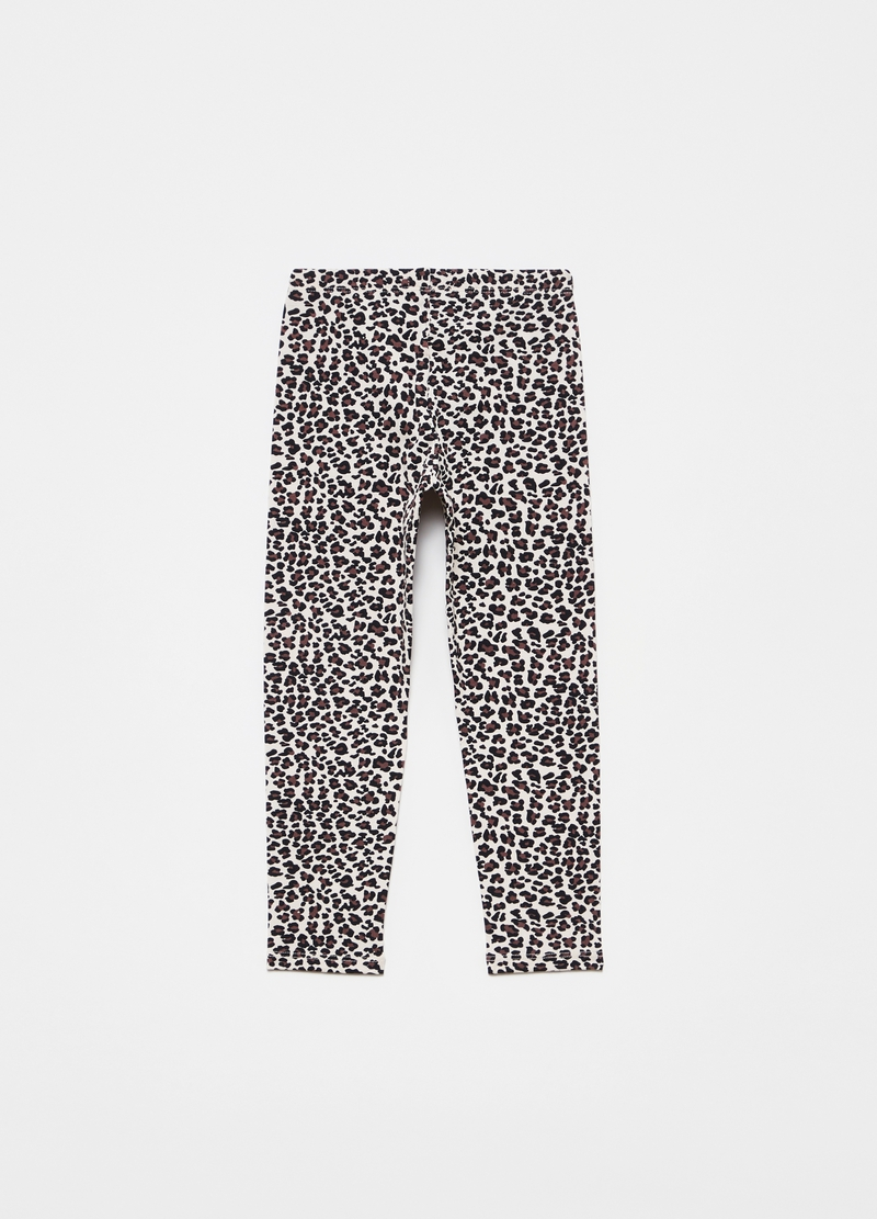 Leggings stretch stampa animalier all-over image number null