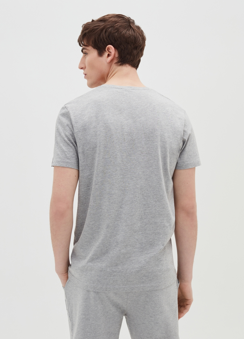 Mélange cotton T-shirt with Everlast print image number null