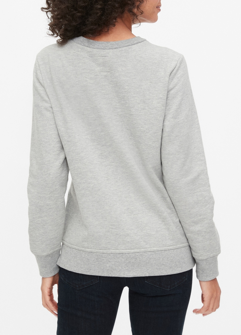 GAP mélange sweatshirt with maxi logo print image number null