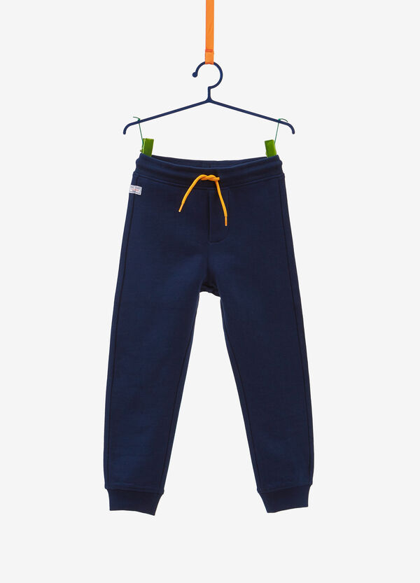 100% cotton trousers with patch