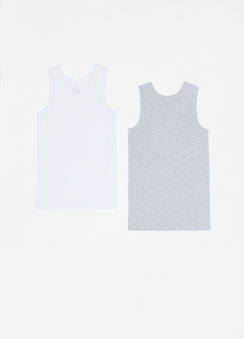Two-pack racerback vests with round neck image number null