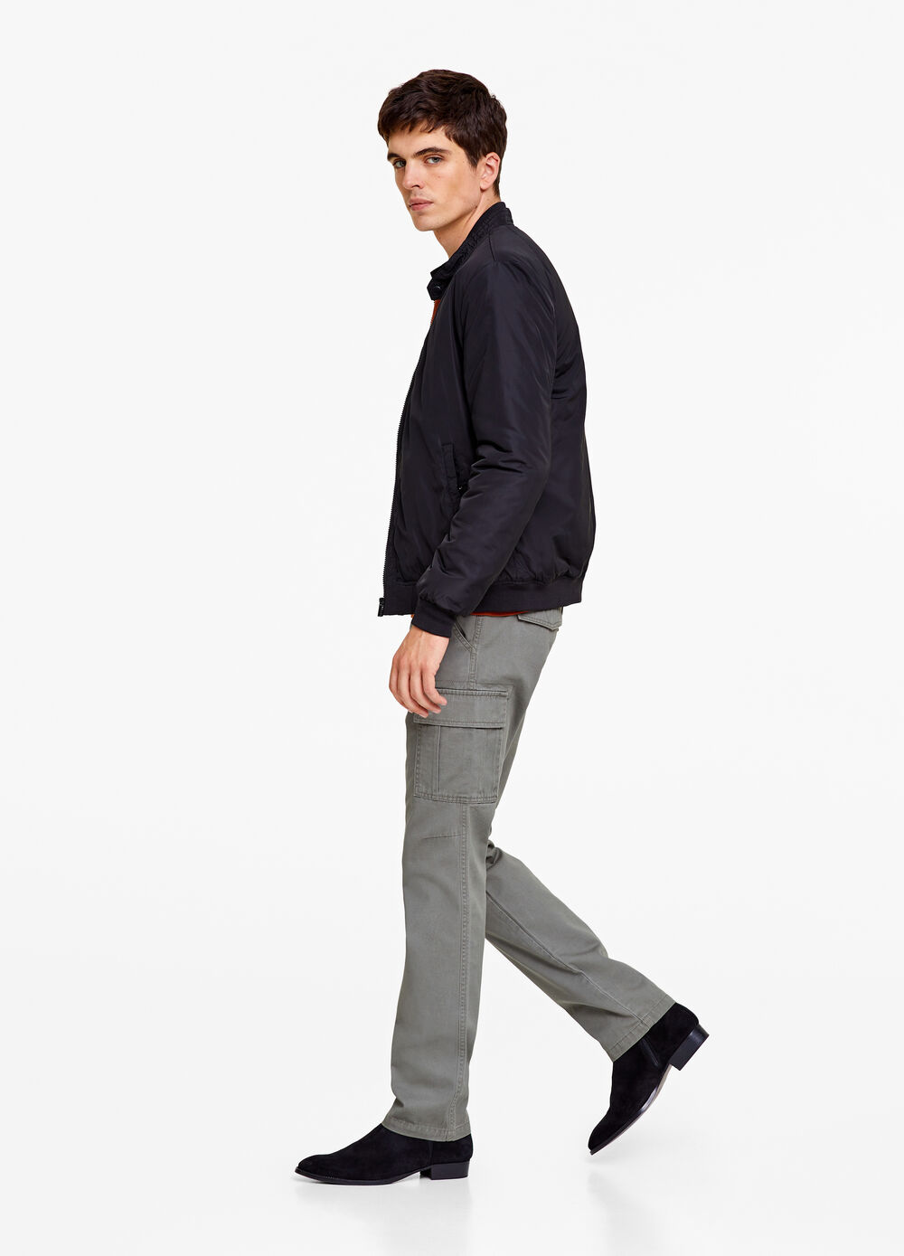 Regular-fit cargo trousers in cotton