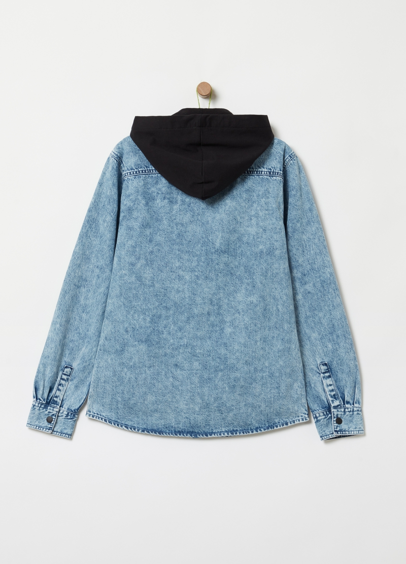 Denim shirt with hood image number null