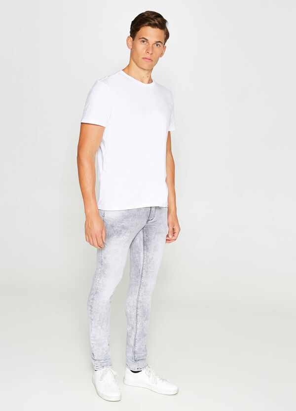 Jeans skinny fit stretch con scoloriture | OVS