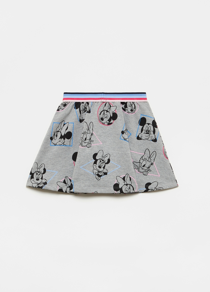 Miniskirt with all-over Disney characters print image number null