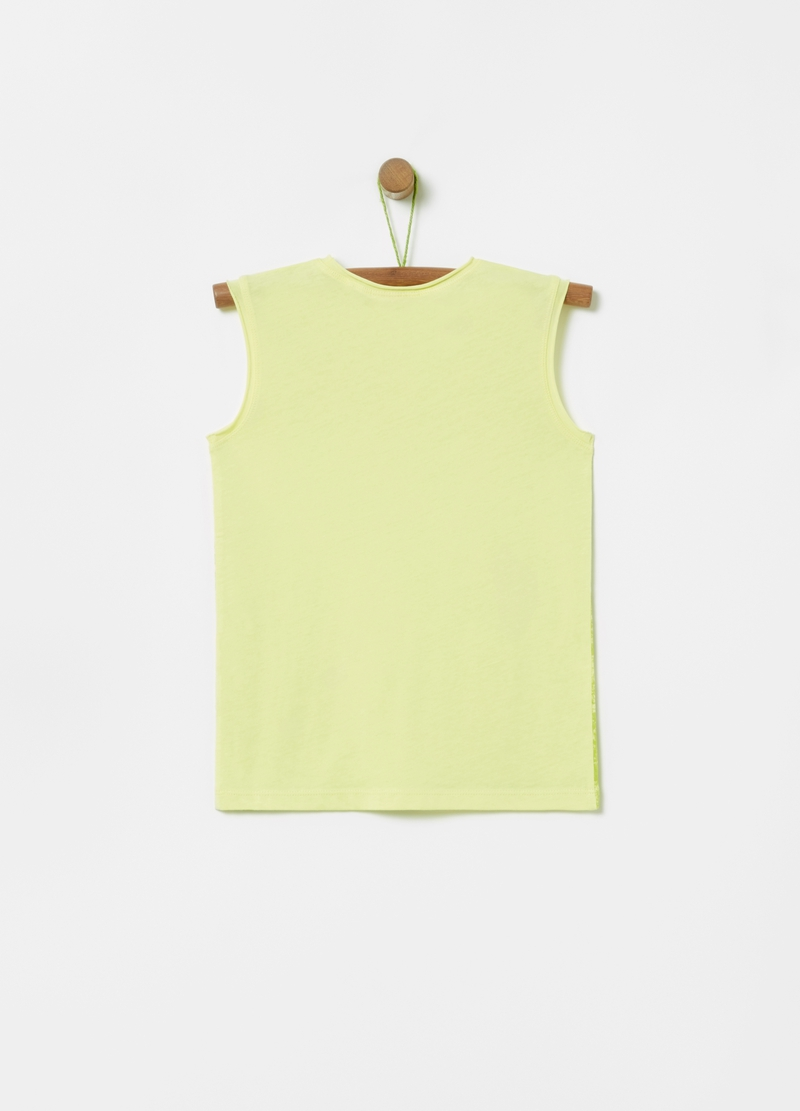 Tank top with foliage print image number null