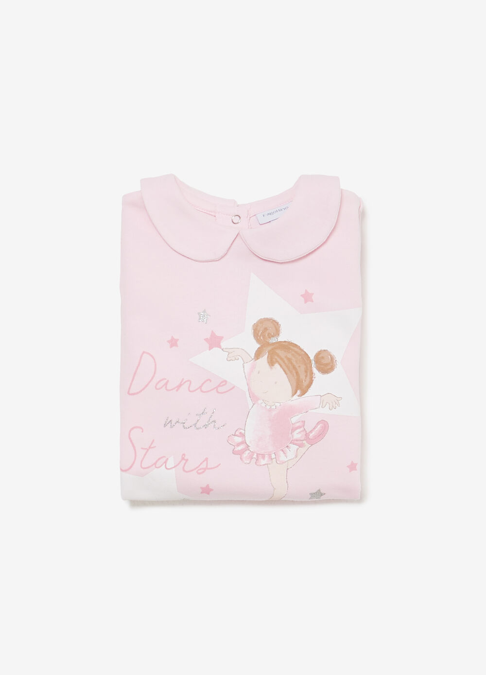 Sleepsuit in 100% cotton with glitter print