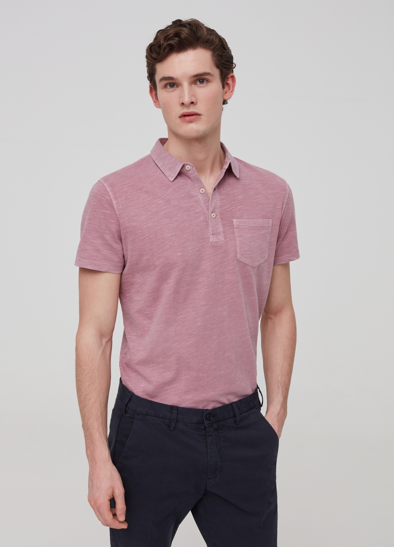 100% cotton polo shirt with pocket image number null